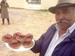 Mogollas con queso y bocadillo, producto tradicional de Peña Blanca