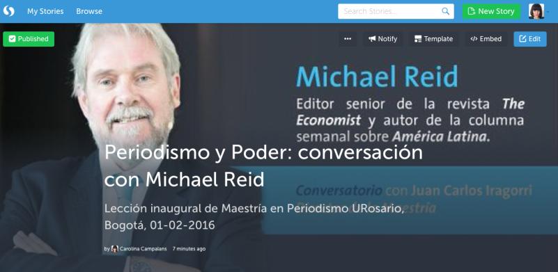 Conservatorio con Michael Reid, resumen en Storify